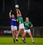5 December 2020; Roisin O'Reilly of Fermanagh in action against Jackie Kinch of Wicklow during the TG4 All-Ireland Junior Ladies Football Championship Final match between Fermanagh and Wicklow at Parnell Park in Dublin. Photo by Matt Browne/Sportsfile