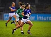 5 December 2020; Marie Kealy of Wicklow in action against Aisling O'Brien of Fermanagh during the TG4 All-Ireland Junior Ladies Football Championship Final match between Fermanagh and Wicklow at Parnell Park in Dublin. Photo by Matt Browne/Sportsfile