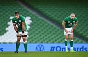 5 December 2020; CJ Stander, left, and Jacob Stockdale of Ireland during the Autumn Nations Cup match between Ireland and Scotland at the Aviva Stadium in Dublin. Photo by Seb Daly/Sportsfile