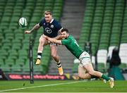 5 December 2020; Stuart Hogg of Scotland is tackled by Robbie Henshaw of Ireland during the Autumn Nations Cup match between Ireland and Scotland at the Aviva Stadium in Dublin. Photo by Seb Daly/Sportsfile
