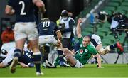 5 December 2020; Keith Earls of Ireland celebrates after scoring his side's first try during the Autumn Nations Cup match between Ireland and Scotland at the Aviva Stadium in Dublin. Photo by Seb Daly/Sportsfile