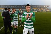 29 November 2020; Neil Farrugia of Shamrock Rovers following the Extra.ie FAI Cup Semi-Final match between Shamrock Rovers and Sligo Rovers at Tallaght Stadium in Dublin. Photo by Stephen McCarthy/Sportsfile