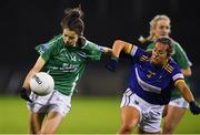 5 December 2020; Eimer Smyth of Fermanagh in action against Lucy Dunne of Wicklow during the TG4 All-Ireland Junior Ladies Football Championship Final match between Fermanagh and Wicklow at Parnell Park in Dublin. Photo by Matt Browne/Sportsfile