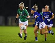 5 December 2020; Sarah McCarville of Fermanagh in action against Sarah Jane Winders of Wicklow during the TG4 All-Ireland Junior Ladies Football Championship Final match between Fermanagh and Wicklow at Parnell Park in Dublin. Photo by Matt Browne/Sportsfile