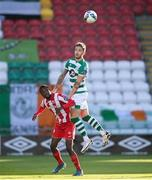 29 November 2020; Lee Grace of Shamrock Rovers in action against Junior Ogedi-Uzokwe of Sligo Rovers during the Extra.ie FAI Cup Semi-Final match between Shamrock Rovers and Sligo Rovers at Tallaght Stadium in Dublin. Photo by Stephen McCarthy/Sportsfile