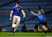 5 December 2020; James Smith of Cavan in action against Paddy Small of Dublin during the GAA Football All-Ireland Senior Championship Semi-Final match between Cavan and Dublin at Croke Park in Dublin. Photo by Ray McManus/Sportsfile
