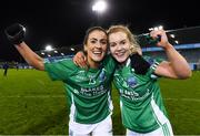 5 December 2020; Fermanagh players Joanne Doonan, left, and Sarah McCausland celebrate after the TG4 All-Ireland Junior Ladies Football Championship Final match between Fermanagh and Wicklow at Parnell Park in Dublin. Photo by Matt Browne/Sportsfile