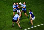 5 December 2020; Jason McLoughlin, left, and Luke Fortune of Cavan in action against Dublin players, from left, Niall Scully, Seán Bugler and Paddy Small during the GAA Football All-Ireland Senior Championship Semi-Final match between Cavan and Dublin at Croke Park in Dublin. Photo by Dáire Brennan/Sportsfile