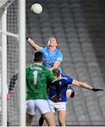 5 December 2020; Ciarán Kilkenny of Dublin in action against Pádraig Faulkner, right, and Raymond Galligan of Cavan during the GAA Football All-Ireland Senior Championship Semi-Final match between Cavan and Dublin at Croke Park in Dublin. Photo by Stephen McCarthy/Sportsfile