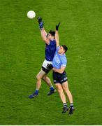 5 December 2020; Thomas Galligan of Cavan in action against David Byrne of Dublin during the GAA Football All-Ireland Senior Championship Semi-Final match between Cavan and Dublin at Croke Park in Dublin. Photo by Dáire Brennan/Sportsfile