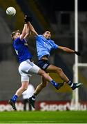 5 December 2020; Chris Conroy of Cavan in action against Niall Scully of Dublin during the GAA Football All-Ireland Senior Championship Semi-Final match between Cavan and Dublin at Croke Park in Dublin. Photo by Eóin Noonan/Sportsfile