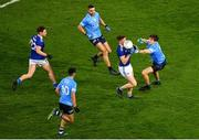 5 December 2020; Ciarán Brady of Cavan in action against David Byrne of Dublin during the GAA Football All-Ireland Senior Championship Semi-Final match between Cavan and Dublin at Croke Park in Dublin. Photo by Dáire Brennan/Sportsfile