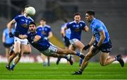 5 December 2020; Conor Smith of Cavan in action against David Byrne of Dublin during the GAA Football All-Ireland Senior Championship Semi-Final match between Cavan and Dublin at Croke Park in Dublin. Photo by Eóin Noonan/Sportsfile