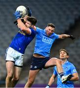 5 December 2020; Thomas Galligan of Cavan in action against Philip McMahon of Dublin during the GAA Football All-Ireland Senior Championship Semi-Final match between Cavan and Dublin at Croke Park in Dublin. Photo by Eóin Noonan/Sportsfile