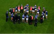 5 December 2020; Cavan manager Mickey Graham speaks to his players following the GAA Football All-Ireland Senior Championship Semi-Final match between Cavan and Dublin at Croke Park in Dublin. Photo by Dáire Brennan/Sportsfile