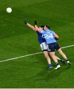 5 December 2020; Thomas Galligan of Cavan in action against Philip McMahon of Dublin during the GAA Football All-Ireland Senior Championship Semi-Final match between Cavan and Dublin at Croke Park in Dublin. Photo by Dáire Brennan/Sportsfile
