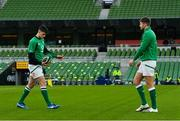 5 December 2020; Harry Byrne, left, and Ross Byrne of Ireland ahead of the Autumn Nations Cup match between Ireland and Scotland at the Aviva Stadium in Dublin. Photo by Ramsey Cardy/Sportsfile