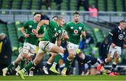 5 December 2020; Jacob Stockdale of Ireland during the Autumn Nations Cup match between Ireland and Scotland at the Aviva Stadium in Dublin. Photo by Ramsey Cardy/Sportsfile