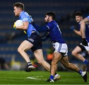 5 December 2020; Robert McDaid of Dublin is tackled by Conor Smith of Cavan during the GAA Football All-Ireland Senior Championship Semi-Final match between Cavan and Dublin at Croke Park in Dublin. Photo by Ray McManus/Sportsfile