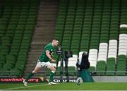 5 December 2020; Jonathan Sexton of Ireland kicks a conversion, following a try by team-mate Keith Earls, during the Autumn Nations Cup match between Ireland and Scotland at the Aviva Stadium in Dublin. Photo by Seb Daly/Sportsfile