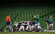 5 December 2020; Conor Murray of Ireland stands over a scrum during the Autumn Nations Cup match between Ireland and Scotland at the Aviva Stadium in Dublin. Photo by Seb Daly/Sportsfile
