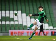 5 December 2020; Harry Byrne of Ireland during the Autumn Nations Cup match between Ireland and Scotland at the Aviva Stadium in Dublin. Photo by Seb Daly/Sportsfile
