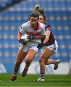 6 December 2020; Doireann O'Sullivan of Cork is tackled by Charlotte Cooney of Galway during the TG4 All-Ireland Senior Ladies Football Championship Semi-Final match between Cork and Galway at Croke Park in Dublin. Photo by Ray McManus/Sportsfile