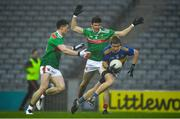 6 December 2020; Brian Fox of Tipperary races past Patrick Durcan, left, and Conor Loftus of Mayo on his way to score a goal in the 11th minute of the GAA Football All-Ireland Senior Championship Semi-Final match between Mayo and Tipperary at Croke Park in Dublin. Photo by Ray McManus/Sportsfile