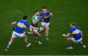 6 December 2020; Aidan O'Shea of Mayo in action against, from left, Conal Kennedy, Colin O'Riordan and Kevin Fahey of Tipperary during the GAA Football All-Ireland Senior Championship Semi-Final match between Mayo and Tipperary at Croke Park in Dublin. Photo by Sam Barnes/Sportsfile