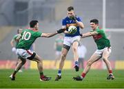 6 December 2020; Liam Casey of Tipperary claims a mark despite the attention of Kevin McLoughlin and Conor Loftus of Mayo during the GAA Football All-Ireland Senior Championship Semi-Final match between Mayo and Tipperary at Croke Park in Dublin. Photo by Harry Murphy/Sportsfile