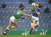 6 December 2020; Liam Casey of Tipperary in action against Aidan O'Shea of Mayo during the GAA Football All-Ireland Senior Championship Semi-Final match between Mayo and Tipperary at Croke Park in Dublin. Photo by Harry Murphy/Sportsfile