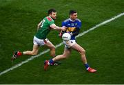6 December 2020; Conor Sweeney of Tipperary in action against Chris Barrett of Mayo during the GAA Football All-Ireland Senior Championship Semi-Final match between Mayo and Tipperary at Croke Park in Dublin. Photo by Sam Barnes/Sportsfile
