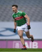 6 December 2020; Cillian O'Connor of Mayo celebrates after scoring his side's second goal during the GAA Football All-Ireland Senior Championship Semi-Final match between Mayo and Tipperary at Croke Park in Dublin. Photo by Ramsey Cardy/Sportsfile