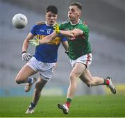 6 December 2020; Eoghan McLaughlin of Mayo in action against Conal Kennedy of Tipperary during the GAA Football All-Ireland Senior Championship Semi-Final match between Mayo and Tipperary at Croke Park in Dublin. Photo by Harry Murphy/Sportsfile