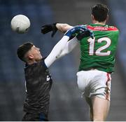 6 December 2020; Diarmuid O'Connor of Mayo shoots to score his side's fourth goal past Tipperary goalkeeper Evan Comerford during the GAA Football All-Ireland Senior Championship Semi-Final match between Mayo and Tipperary at Croke Park in Dublin. Photo by Harry Murphy/Sportsfile