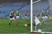 6 December 2020; Brian Fox of Tipperary scores his side's first goal past Mayo goalkeeper David Clarke during the GAA Football All-Ireland Senior Championship Semi-Final match between Mayo and Tipperary at Croke Park in Dublin. Photo by Brendan Moran/Sportsfile