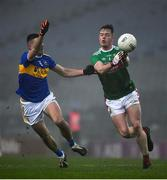 6 December 2020; Stephen Coen of Mayo is tackled by Colin O'Riordan of Tipperary during the GAA Football All-Ireland Senior Championship Semi-Final match between Mayo and Tipperary at Croke Park in Dublin. Photo by Ray McManus/Sportsfile
