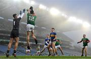 6 December 2020; Diarmuid O'Connor of Mayo scores his side's fourth goal despite the attention of Tipperary goalkeeper Evan Comerford during the GAA Football All-Ireland Senior Championship Semi-Final match between Mayo and Tipperary at Croke Park in Dublin. Photo by Ramsey Cardy/Sportsfile