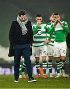 6 December 2020; Shamrock Rovers manager Stephen Bradley following his side's defeat in the Extra.ie FAI Cup Final match between Shamrock Rovers and Dundalk at the Aviva Stadium in Dublin. Photo by Seb Daly/Sportsfile