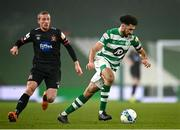 6 December 2020; Roberto Lopes of Shamrock Rovers in action against John Mountney of Dundalk during the Extra.ie FAI Cup Final match between Shamrock Rovers and Dundalk at the Aviva Stadium in Dublin. Photo by Seb Daly/Sportsfile