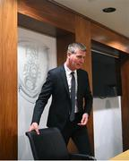7 December 2020; Republic of Ireland manager Stephen Kenny during a Republic of Ireland press conference at FAI Headquarters in Abbotstown, Dublin, following the UEFA preliminary draw for the FIFA World Cup 2022. Photo by Stephen McCarthy/Sportsfile