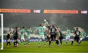 6 December 2020; Roberto Lopes of Shamrock Rovers heads his side's second goal during the Extra.ie FAI Cup Final match between Shamrock Rovers and Dundalk at the Aviva Stadium in Dublin. Photo by Stephen McCarthy/Sportsfile