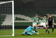 6 December 2020; Roberto Lopes of Shamrock Rovers has an opportunity on goal late in normal time during the Extra.ie FAI Cup Final match between Shamrock Rovers and Dundalk at the Aviva Stadium in Dublin. Photo by Stephen McCarthy/Sportsfile