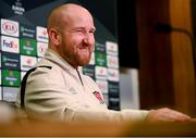 9 December 2020; Dundalk first team coach Shane Keegan speaks to media ahead of a training session at the FAI National Training Centre in Abbotstown, Dublin. Photo by Stephen McCarthy/Sportsfile