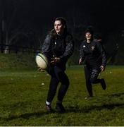 10 December 2020; Rachel Griffey with her team-mates during Wicklow RFC Women's Squad return to training at Wicklow Rugby Club in Ashtown, Wicklow. Photo by Matt Browne/Sportsfile