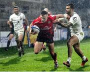 11 December 2020; Ian Madigan of Ulster on his way to scoring his side's second try during the Heineken Champions Cup Pool B Round 1 match between Ulster and Toulouse at Kingspan Stadium in Belfast. Photo by John Dickson/Sportsfile