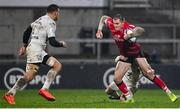 11 December 2020; Jacob Stockdale of Ulster is tackled by Maxime Médard of Toulouse during the Heineken Champions Cup Pool B Round 1 match between Ulster and Toulouse at Kingspan Stadium in Belfast. Photo by Ramsey Cardy/Sportsfile