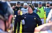 12 December 2020; Offaly manager Gary Cahill addresses his team ahead of the Bord Gais Energy Leinster Under 20 Hurling Championship Quarter-Final match between Offaly and Dublin at St Brendan's Park in Birr, Offaly. Photo by Sam Barnes/Sportsfile