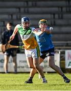 12 December 2020; Luke Nolan of Offaly in action against Kevin Burke of Dublin during the Bord Gais Energy Leinster Under 20 Hurling Championship Quarter-Final match between Offaly and Dublin at St Brendan's Park in Birr, Offaly. Photo by Sam Barnes/Sportsfile