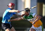12 December 2020; Rory Carty of Offaly in action against Liam Murphy of Dublin during the Bord Gais Energy Leinster Under 20 Hurling Championship Quarter-Final match between Offaly and Dublin at St Brendan's Park in Birr, Offaly. Photo by Sam Barnes/Sportsfile